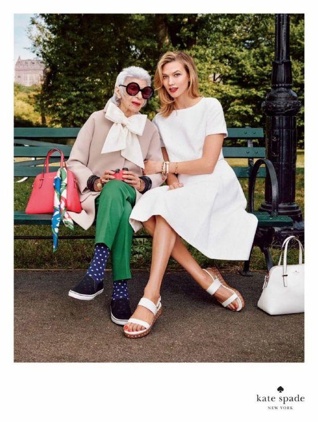 Iris Apfel x Karlie Kloss for Kate Spade
