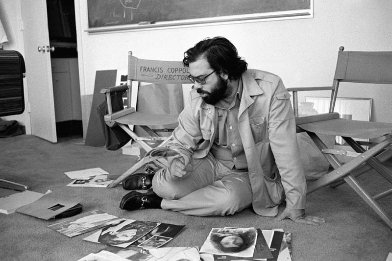 Original Caption: 4/24/1970-San Francisco, CA- Francis Ford Coppola works in his American Zoetrope movie studio.