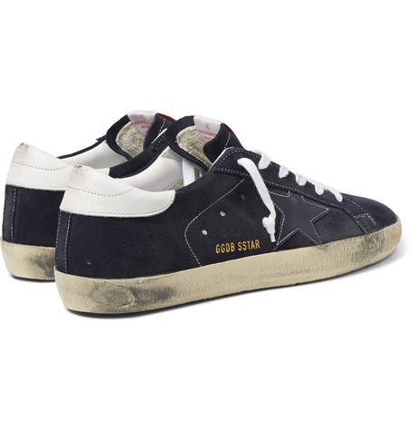 Golden Goose - Distressed Suede Sneakers01
