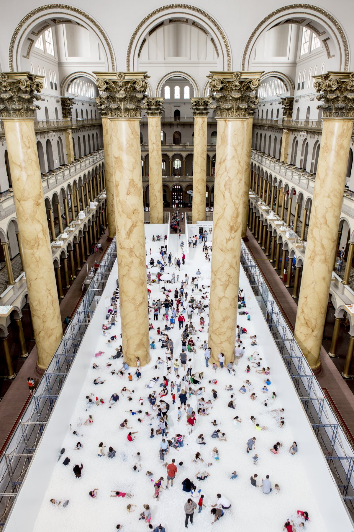 the-10000-square-foot-exhibit--called-the-beach--spans-the-hall-of-the-national-building-museum