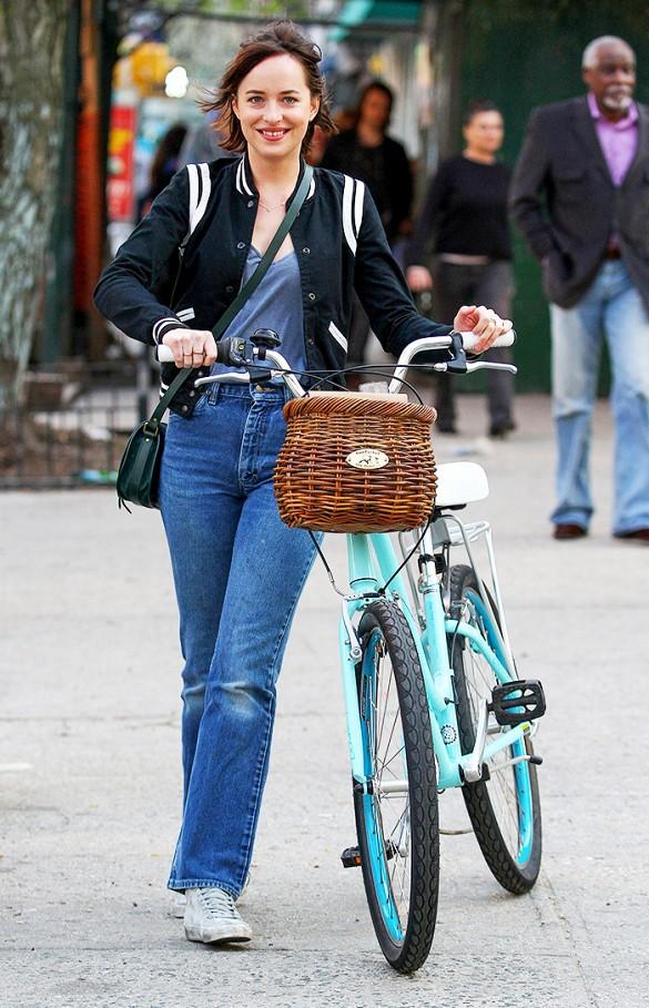 Bike In Style - Dakota Johnson