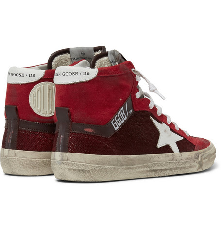 Golden Goose - Distressed Leather, Suede & Mesh High Top 01