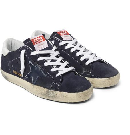 Golden Goose - Distressed Suede Sneakers00