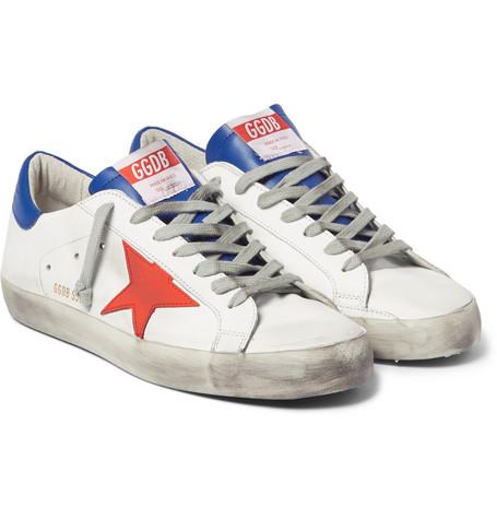 Golden Goose - Superstar Distressed Leather Sneaker00