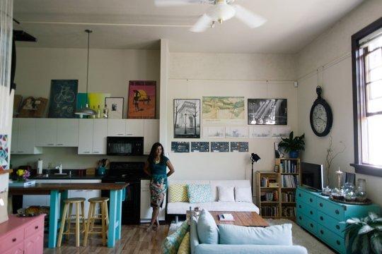 house call loft livinig and kitchen